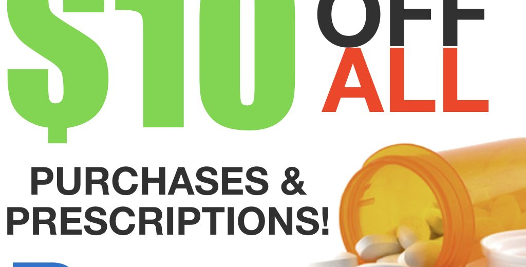 $10 off prescriptions Sale